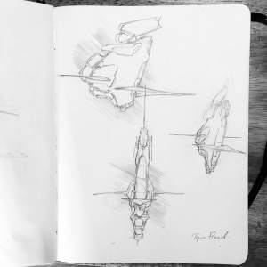 Tyre Fleet Spaceship Sketch 1