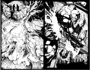 The Silence Issue 1 Splash Page 3-4 No words.005